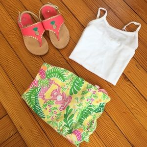  Lilly Pulitzer Pink & Yellow Monkey Skirt